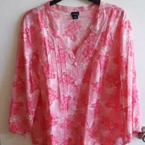 Flower Button-Up Blouse